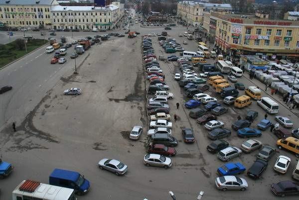 Колхозная площадь, схема движения, Смоленск