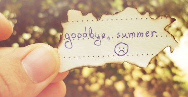 прощай лето