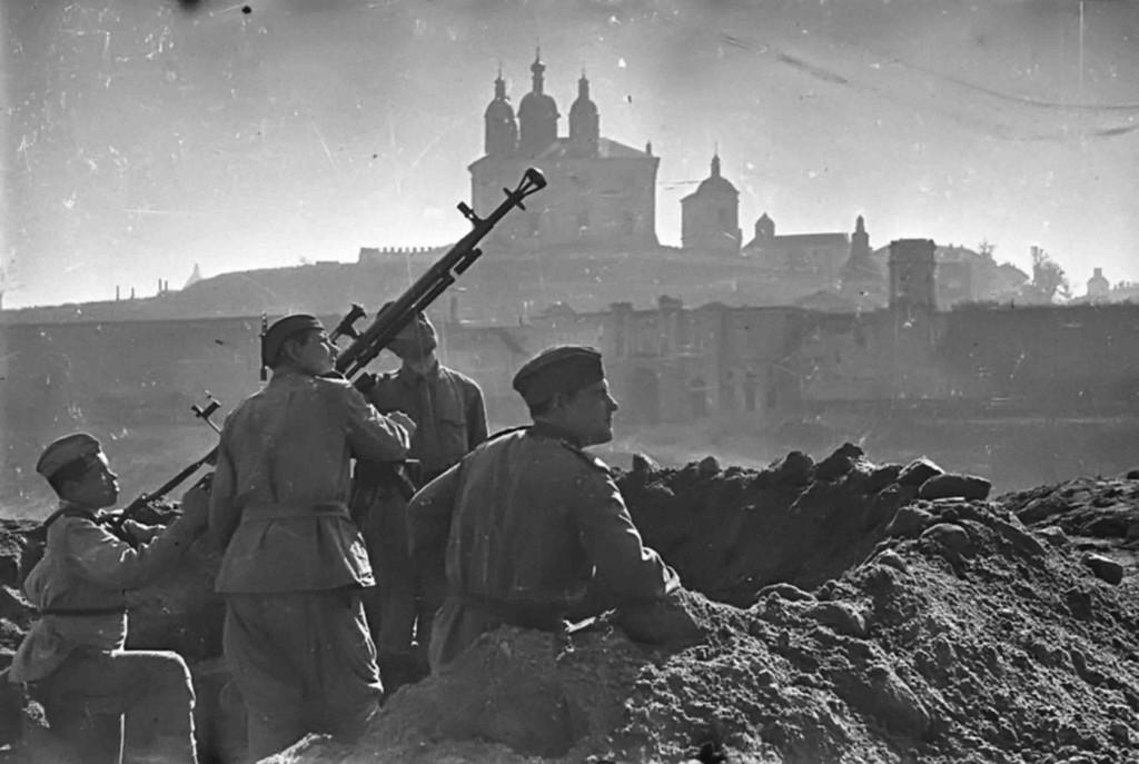 Battle of Smolensk. Soviet anti-aircraft heavy machine gun