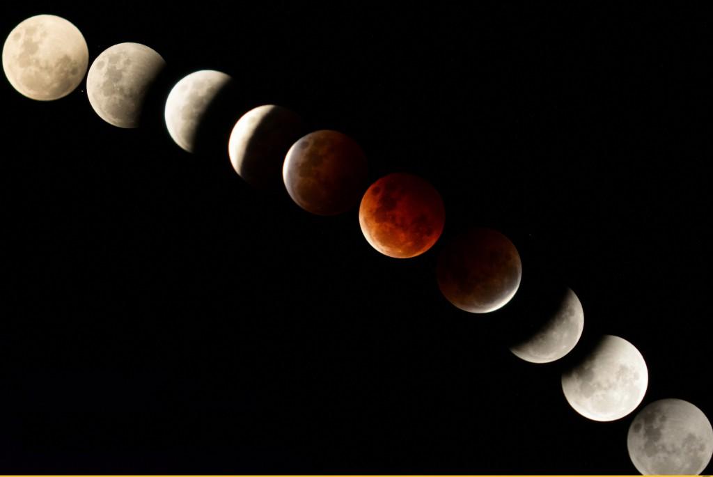 лунное затмение красная луна