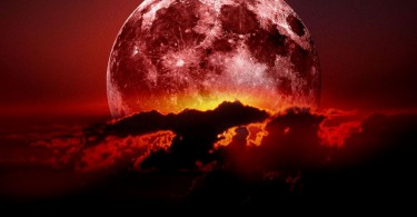 суперлуние луна красная