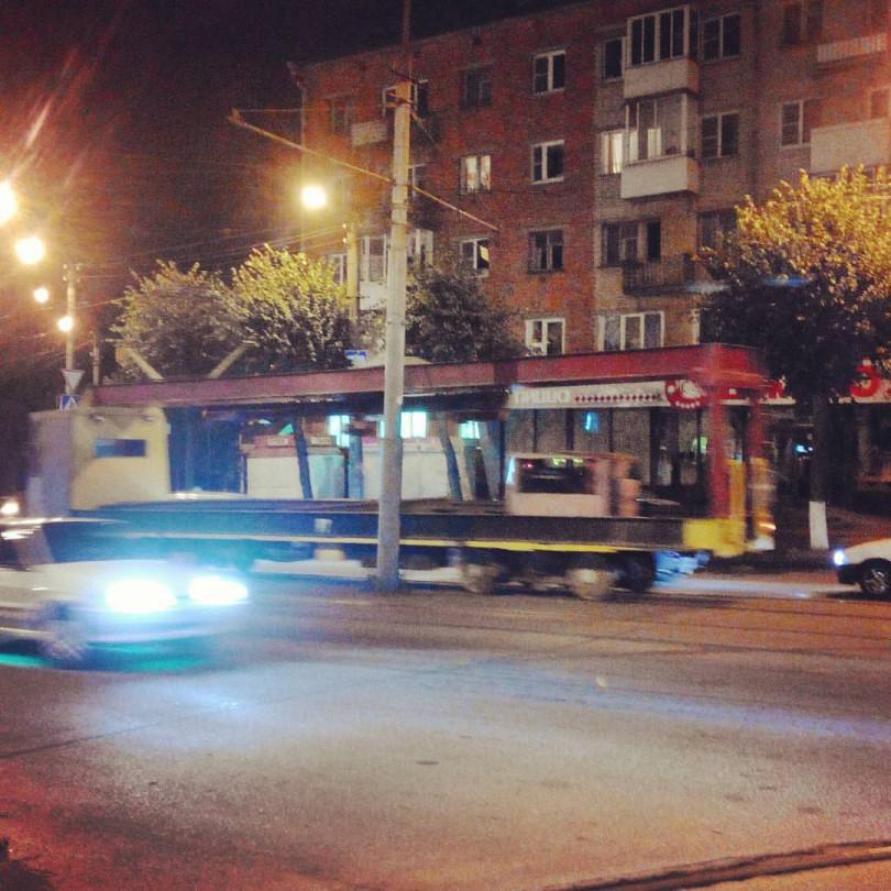 трамвай ремонт путей