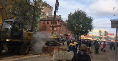 прорыв трубопровода смоленск соколовского