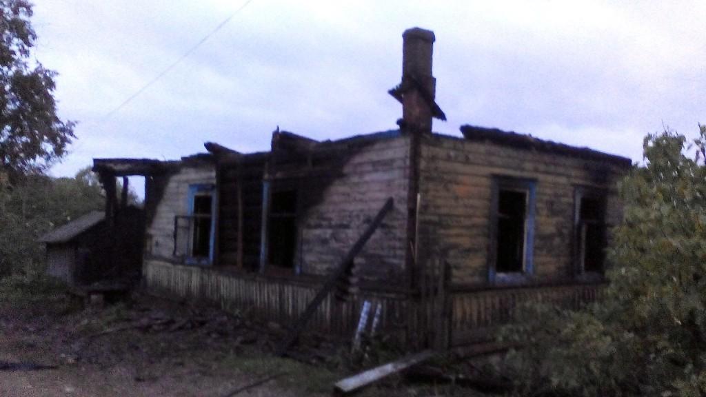 пожар дорогобуж дом