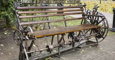 союз дизайнеров россии возле фонтана в парке Блонье лавочка Смоленск