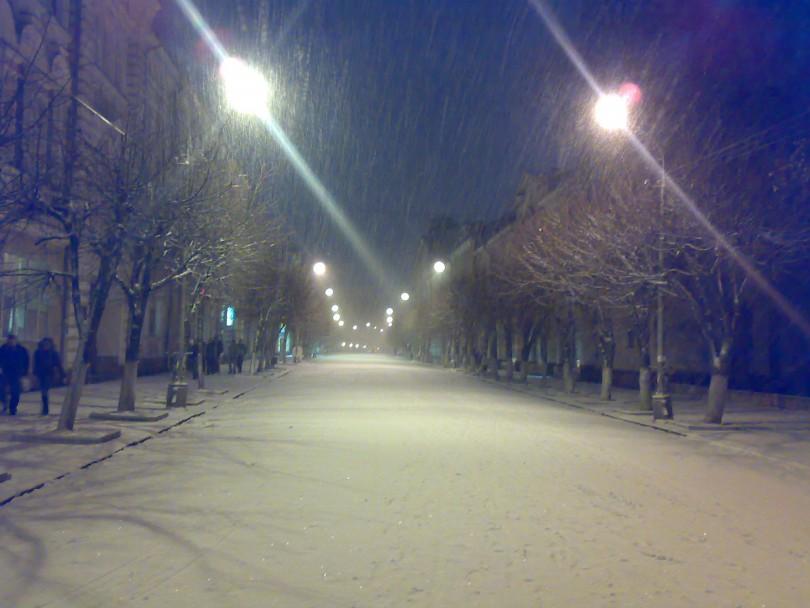 Ленина Смоленск снег зима