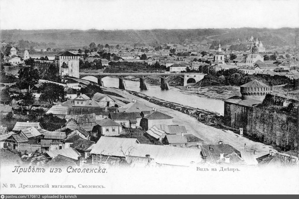 1880—1895, костыревская башня смоленская крепость