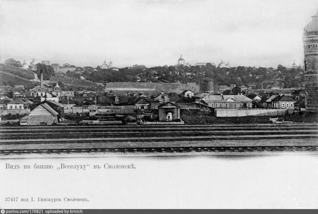1890—1904  костыревская башня смоленская крепость