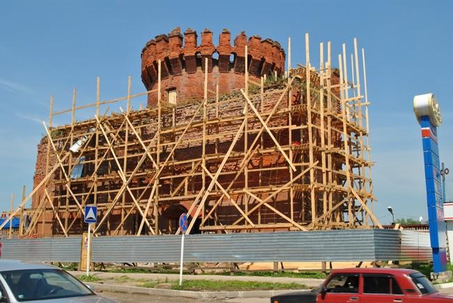 башня костыревская смоленская крепостная стена красная