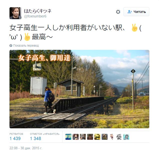 はたらくキツネ в Твиттере  «女子高生一人しか利用者がいない駅、✌   ω   ✌最高~ https   t.co NzYiDaUvCG»