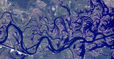 река днепр из космоса