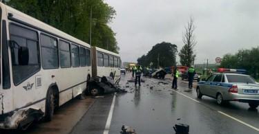 Авария на Витебском шоссе в Смоленске