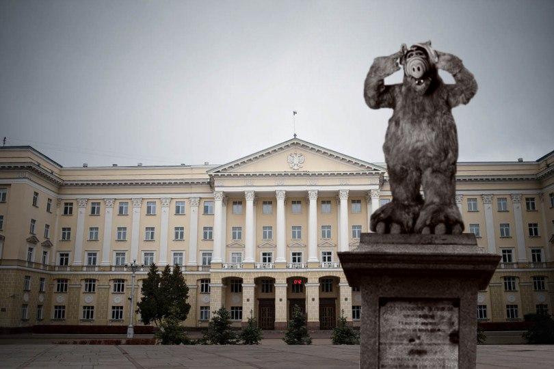 площадь ленина в смоленске, с памятником вождю