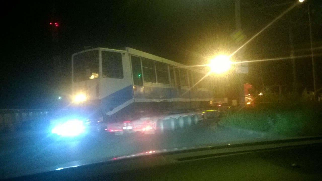 в смоленск доставили московские трамвай