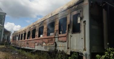 в смоленске загорелись вагоны в которых жили бездомные