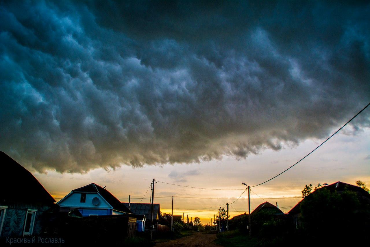 Рославль, закат