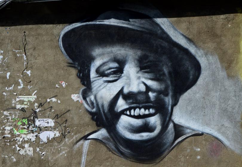 граффити с никулиным в смоленске