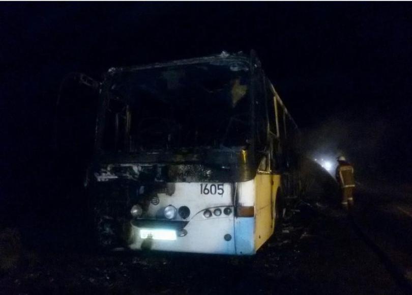 ВСмоленском районе сгорел рейсовый автобус