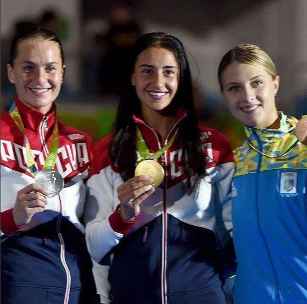 саблистки олимпиада рио-де-жанейро бразилия золото