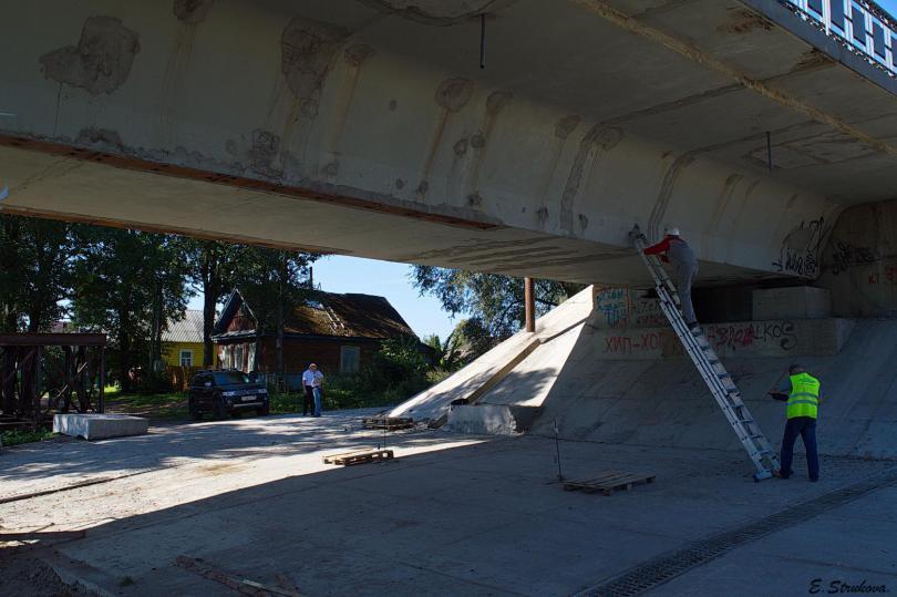 открытие отремонтированного моста в велиже