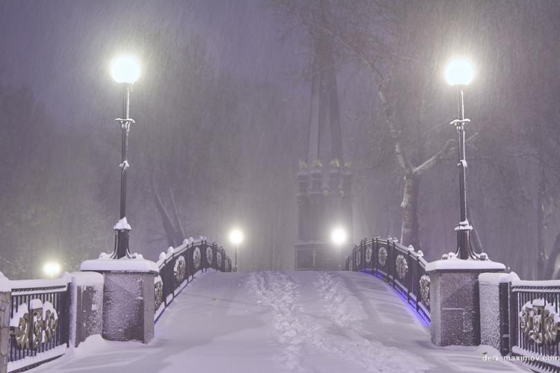 первый снег в Смоленске