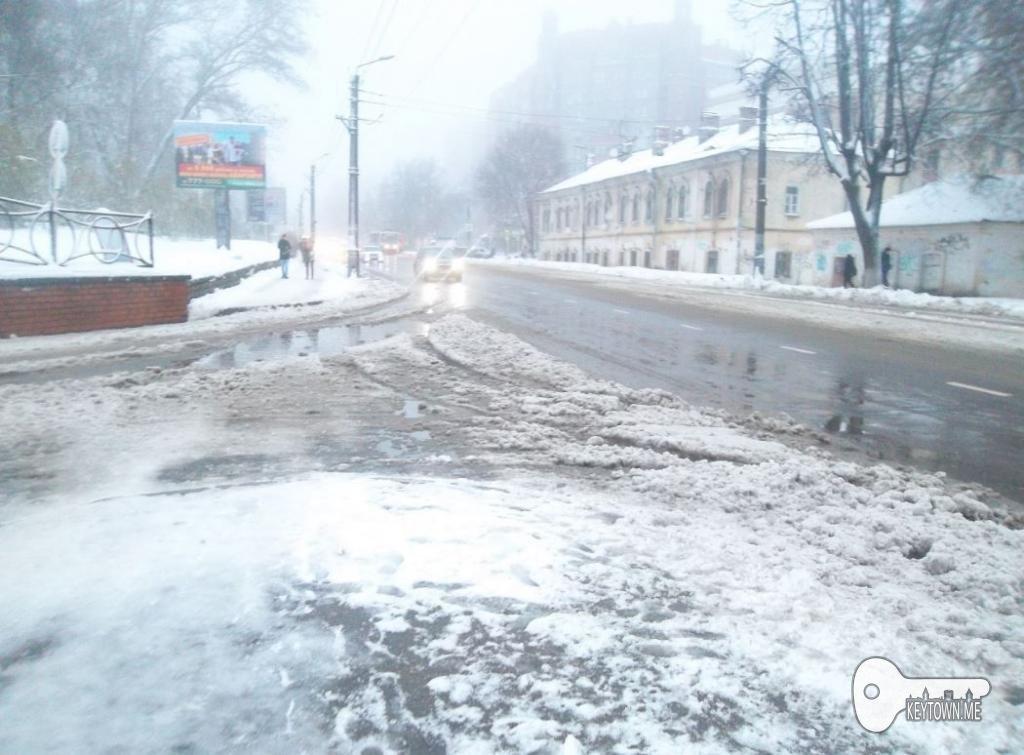 снег зима дороги