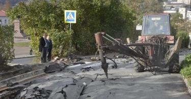 авария на теплотрассе в центре смоленска