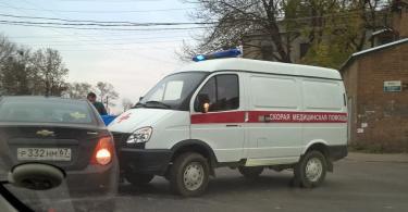 авария с участием скорой помощи в Смоленске