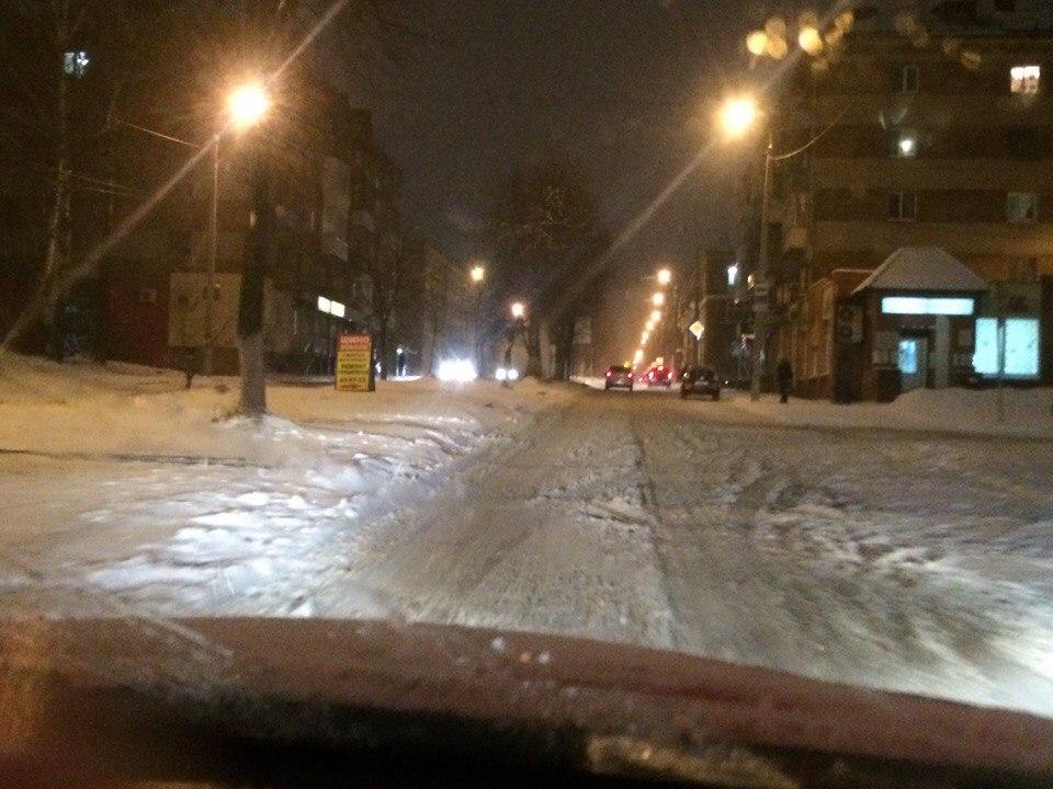 Снегопад в Смоленске