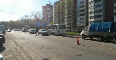 Краснинское шоссе, ремонт дорог