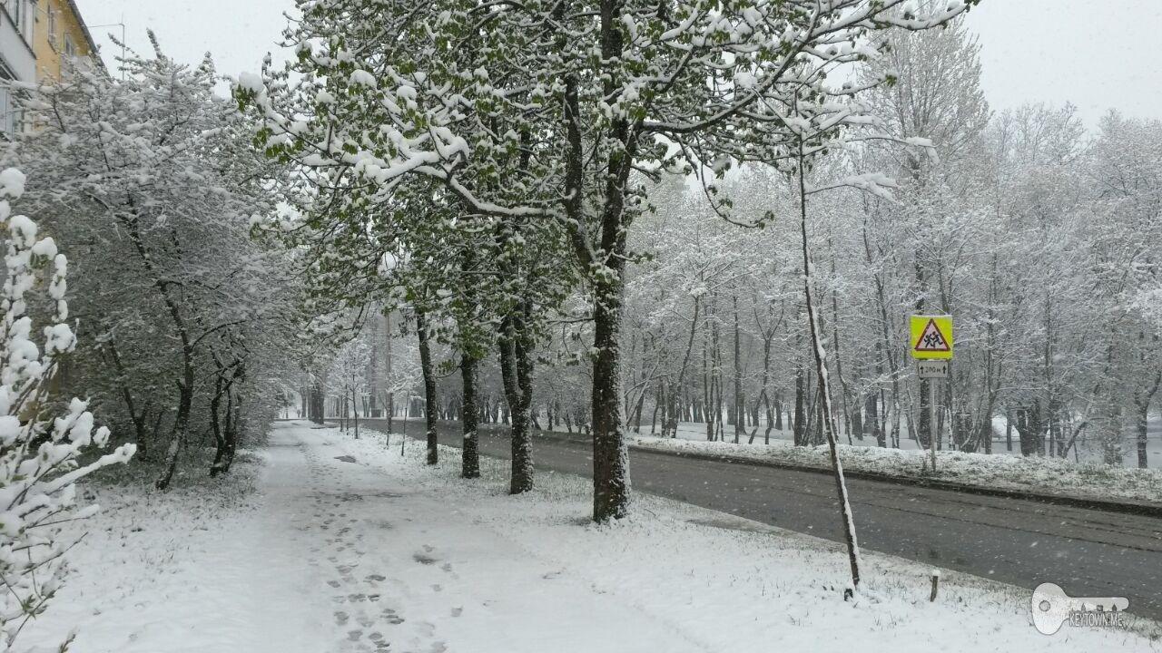 снегопад в Смоленске, май