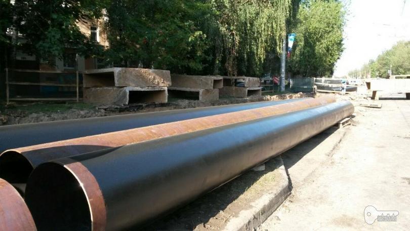 ремонт Краснинского шоссе, Квадра, трубы