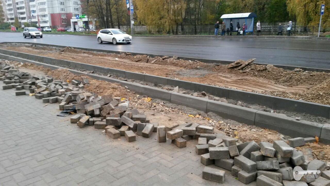 ремонт тепломагистрали, Краснинское шоссе