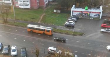 троллейбус, Краснинское шоссе