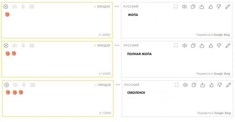 Яндекс.Переводчик научился переводить наэмодзи иобратно