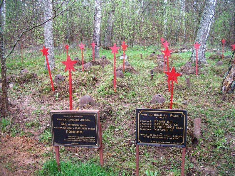 Братские захоронения времён Великой Отечественной Войны под Смоленском